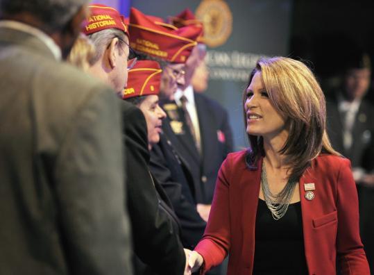 GOP presidential hopeful Representative Michele Bachmann spoke at the American Legion's national convention.