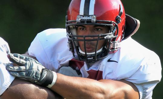 Harvard senior defensive tackle Josue Ortiz led the Ivy League in both sacks (7.5) and tackles for loss (13.5) last season.