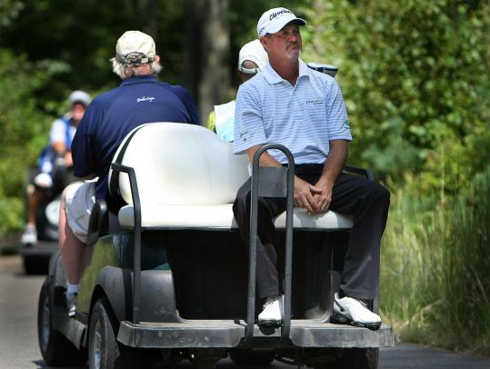 Jerry Kelly, catching a ride to the eighth tee, says he's headed in the right direction after solving back and inconsistency issues.