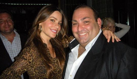 Actress Sofia Vergara with Strega Waterfront owner Nick Varano on Saturday.