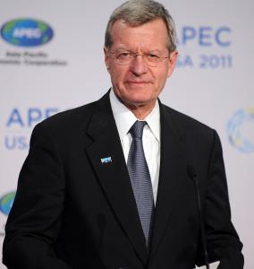 An advocacy group says Senator Max Baucus is a leader in health industry contributions.