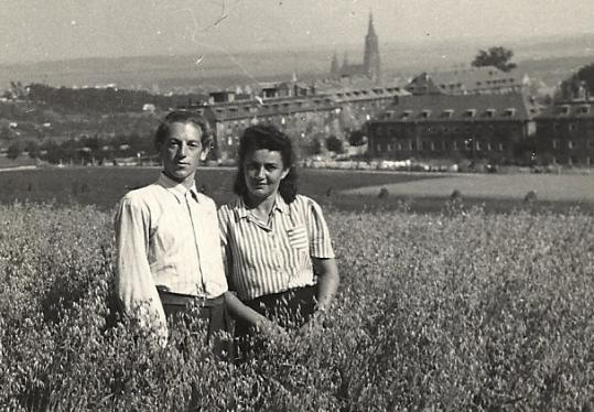 Norman and Frieda Katz at a German displaced persons camp.