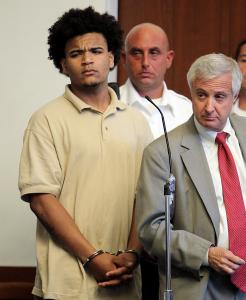 Ricardo Arias, in court Tuesday, is accused of fatally shooting Alex Sierra, 18.
