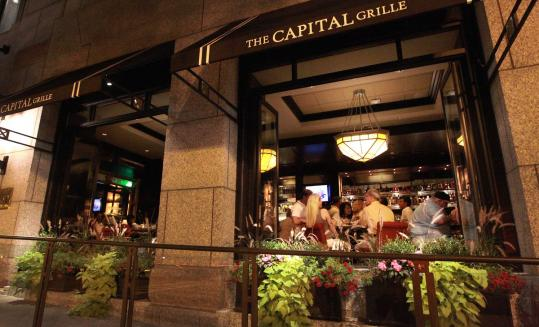 The new Capital Grille is a bigger, more expansive restaurant and features large windows that open in the nice weather.