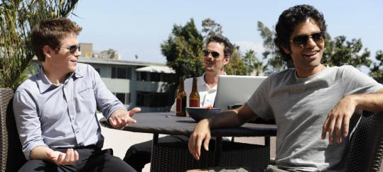 "From left: Eric (Kevin Connolly), Drama (Kevin Dillon), and Vince (Adrian Grenier) in HBO's ""Entourage.''"