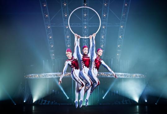 "The highlight of the Cirque du Soleil production ""Quidam'' are the colorful aerial acts."