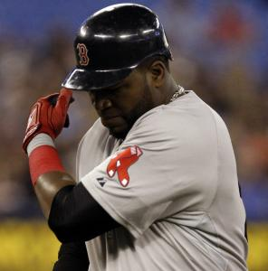 David Ortiz is none too pleased after flying out.