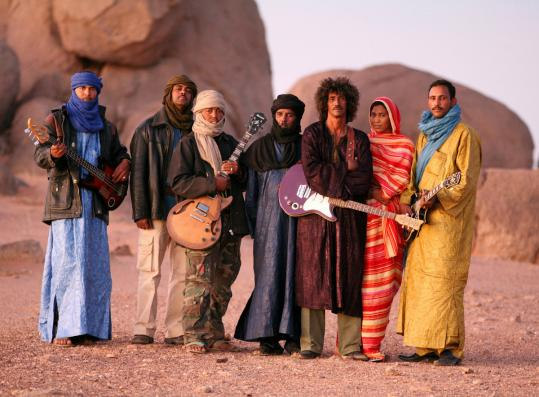 Tinariwen, a Tuareg ensemble from deep in the Sahara, plays at the Paradise Rock Club Nov. 18.