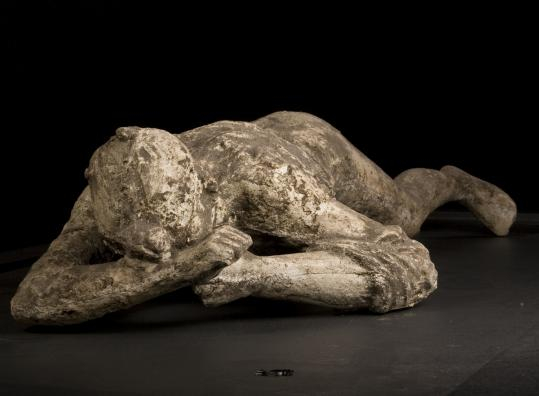 """A Day in Pompeii'' at the Museum of Science includes casts of victims."