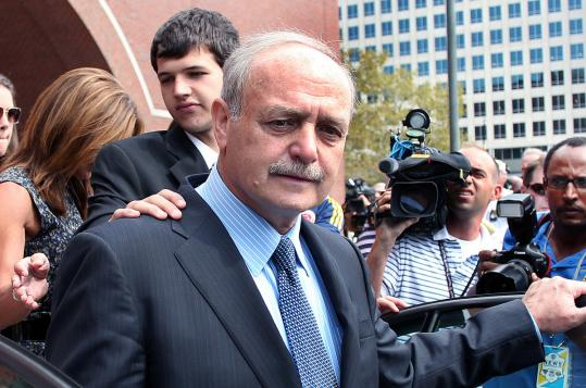 Salvatore DiMasi leaves the Moakley Federal Court after his sentencing yesterday.