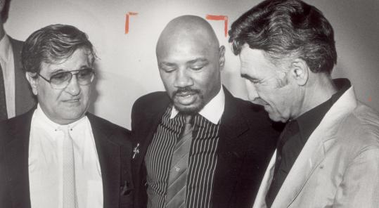 Trainers Pat (left) and Goody Petronelli were in Marvin Hagler's corner during his seven-year reign as middleweight champion.