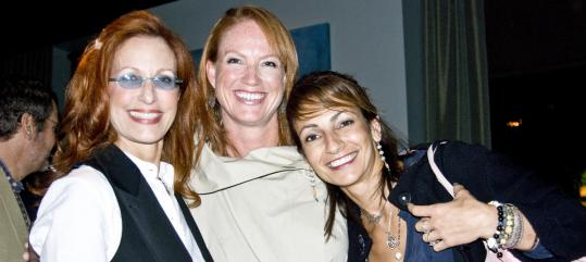 Liz Krupp, Karen De Temple, and Betty Riaz at 28 Degrees.