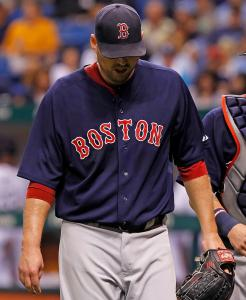 An opposing batter took out John Lackey in a different way than usual this year.