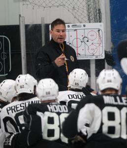 Bruins rookies were under the capable direction of Providence coach Bruce Cassidy yesterday at Ristuccia Arena.
