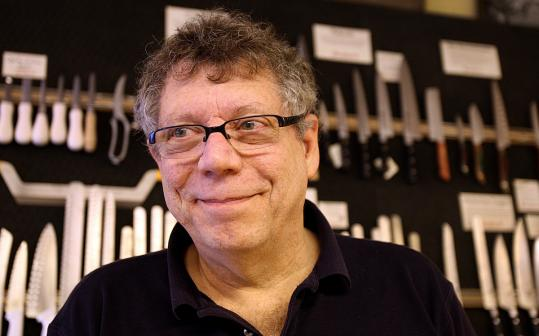 Stoddard&#8217;s owner David Marks teaches Kitchen Cutlery 101 twice a month at his Newton shop.