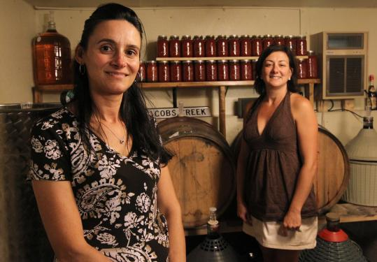 Carmelina Buonopane (left) and Pina Pescatore have organized the annual production of their family recipe for 15 years.