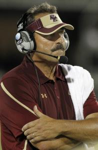 BC coach Frank Spaziani will have to adjust on the fly after offensive coordinator Kevin Rogers took a leave of absence.