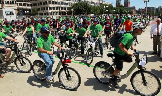 The launch of Boston&#8217;s Hubway bike-sharing system in July means motorists will be sharing the roads with even more cyclists.
