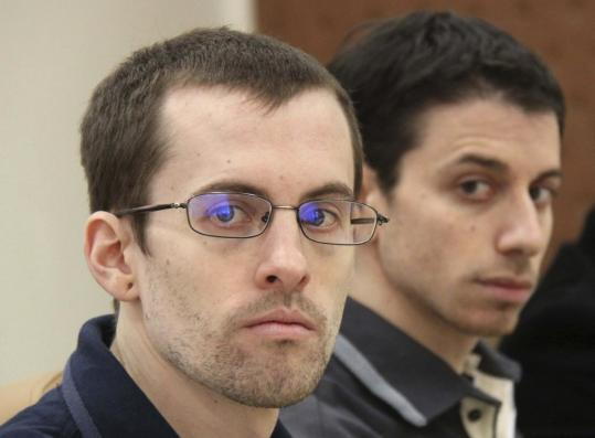 US hikers Shane Bauer (left) and Josh Fattal were sentenced last month to eight years in prison on spying charges. They were arrested along with Sarah Shourd in July 2009.