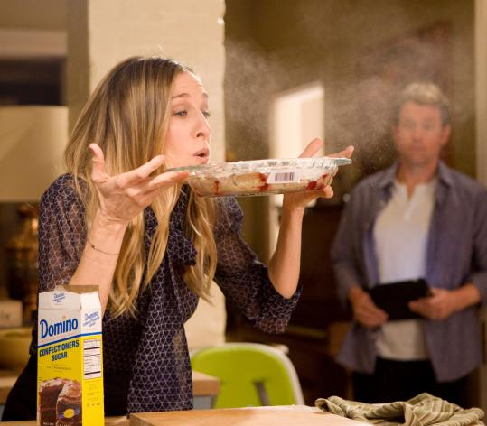 "Sarah Jessica Parker (with Greg Kinnear) plays a harried working mom in the comedy ""I Don't Know How She Does It.''"