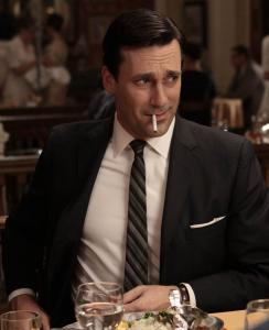 "Above: Jon Hamm is nominated for best actor in a drama for ""Mad Men.'' Below: Julianna Margulies is up for best actress in a drama for ""The Good Wife.''"