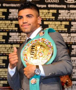 Victor Ortiz will put his welterweight title on the line against Floyd Mayweather Jr.