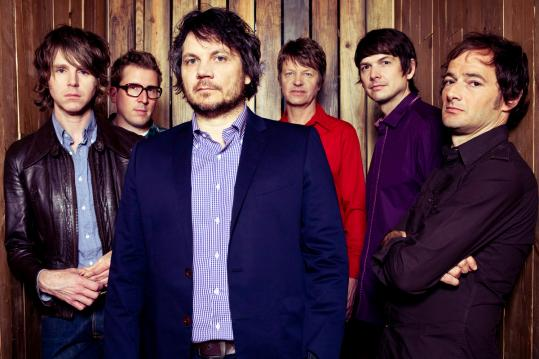 From left: Patrick Sansone, Mikael Jorgensen, Jeff Tweedy , Nels Cline, Glenn Kotche, John Stirratt of Wilco, which will perform at the Citi Wang Theatre on Tuesday.