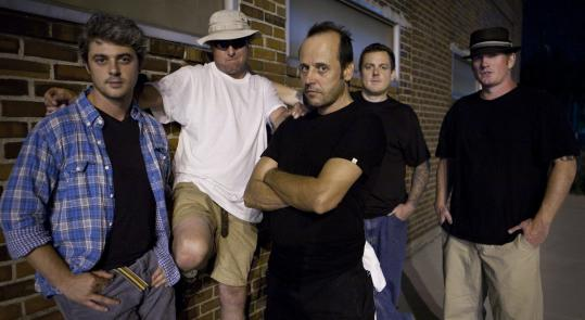 The hard-rocking members of Tree include (from left) Mike Mancuso, Jake Westwood, Dave ''River'' Tree, Bryan ''Ooze'' Hinkley, and Billy Hinkley.