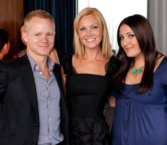 Michael Blanchard Kevin Brown, Ashley Bernon, and Erica Corsano at the Gilt City party.