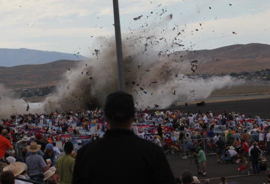The vintage P-51 Mustang crashed into the edge of the grandstands at the air show in Reno Friday afternoon. Several people injured on the ground were in critical condition, hospital officials said, including some victims with severed limbs.