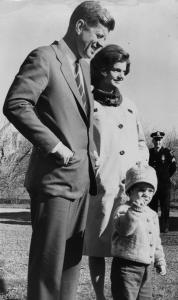 President-elect John F. Kennedy, Jacqueline, and their daughter Caroline on Nov. 10, 1960.