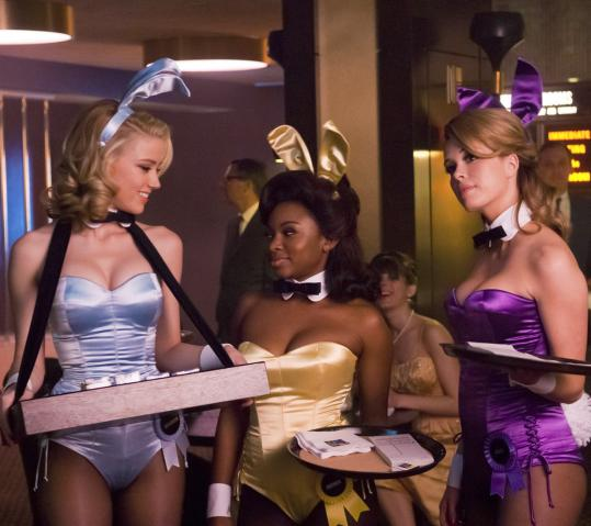 "From left: Amber Heard, Naturi Naughton, and Leah Renee in NBC's drama ""The Playboy Club.''"