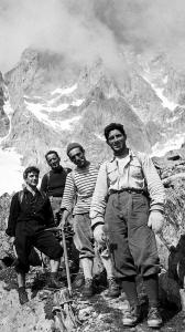 In this photo taken in August 1955, Italian climber Walter Bonatti (right) was on the Italian side of Mont Blanc.