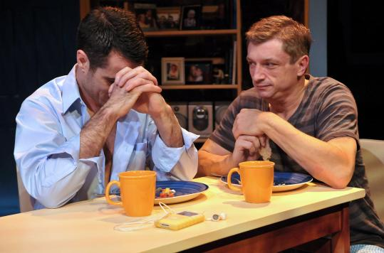 "Dan Roach (left) as Luke and Will McGarrahan as Adam in the thought-provoking SpeakEasy Stage Company production of ""Next Fall.''"