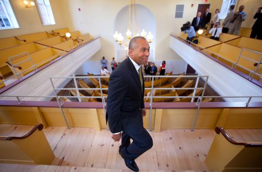 Governor Deval Patrick took a tour yesterday of the newly restored African Meeting House.