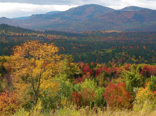 Fall color near Bethel, Maine, in the often-overlooked western part of the state.
