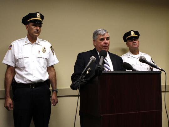 Norfolk District Attorney Michael Morrissey and police officials detailed the shooting death of Kristopher Rosa.