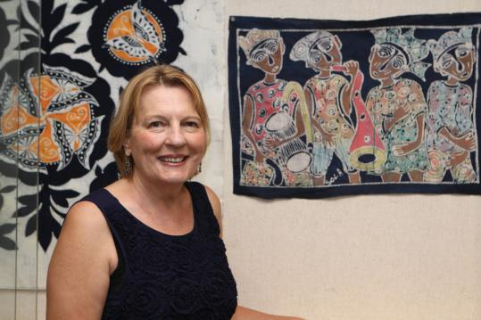 Paula Gulbicki is exhibiting pieces from her textile collection at Middlesex Community College's Bedford campus.