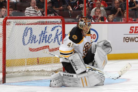 Tuukka Rask stopped 34 of 36 Ottawa shots in the Bruins' exhibition opener.