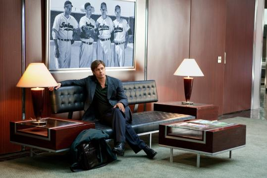 Brad Pitt stars as Billy Beane, the general manager of the Oakland A's.