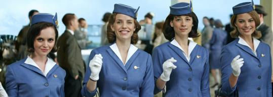 "From left, Christina Ricci, Kelli Garner, Karine Vanasse, and Margot Robbie play stewardesses in 1963 on ABC's new series ""Pan Am.''"