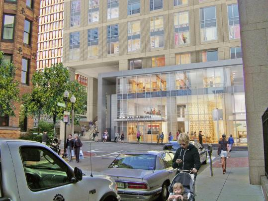The Avalon Exeter project will create 187 apartments, plus retail space, in a building next to the Lenox Hotel.