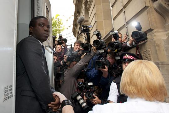 Kweku Adoboli, 31, appeared in a London court, accused in an unauthorized trading case. UBS has put its loss at $2.3 billion.