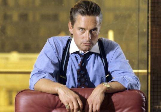"The power plays made by BCS conferences bring to mind the words of Michael Douglas's character in ""Wall Street.''"