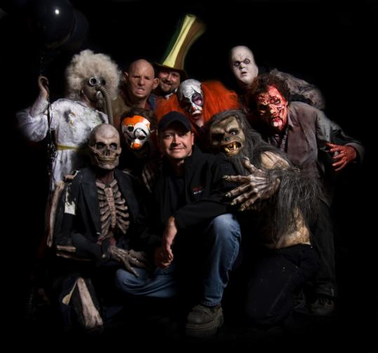 Southborough resident Mike Krausert fits right in with the ghoulish ensemble he&#8217;s taking to Fenway Park next month.