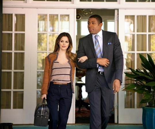 "Rachel Bilson as Zoe Hart and Cress Williams as Lavon Hayes in ""Hart of Dixie.''"