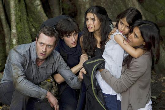 Above (from left): Jason O'Mara, Landon Liboiron, Naomi Scott, Alana Mansour, and Shelley Conn.