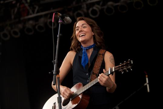 Among those playing on the Life is good stage yesterday was Brandi Carlile.