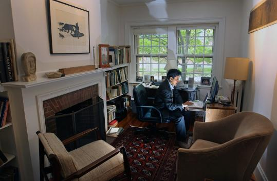 Dr. Jose Hidalgo, shown in his Cambridge home office, said low Latino ADHD rates may reflect a cultural tendency in the community to accept a wide range of behavior in young children.