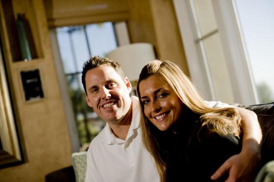 Red Sox pitcher John Lackey and his wife, Krista, in 2010.